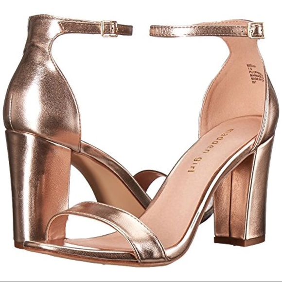 a689570892 New Madden Girl Beella Rose Gold Heels. Listing Price: $20.00